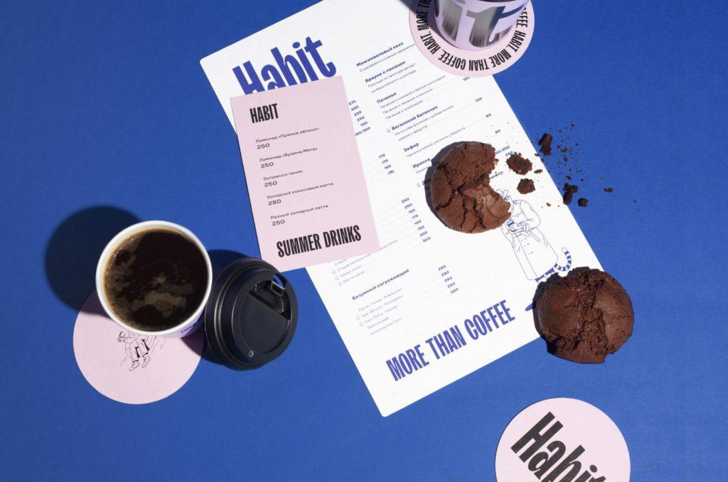 Визуальная айдентика бренда Habbit Coffee