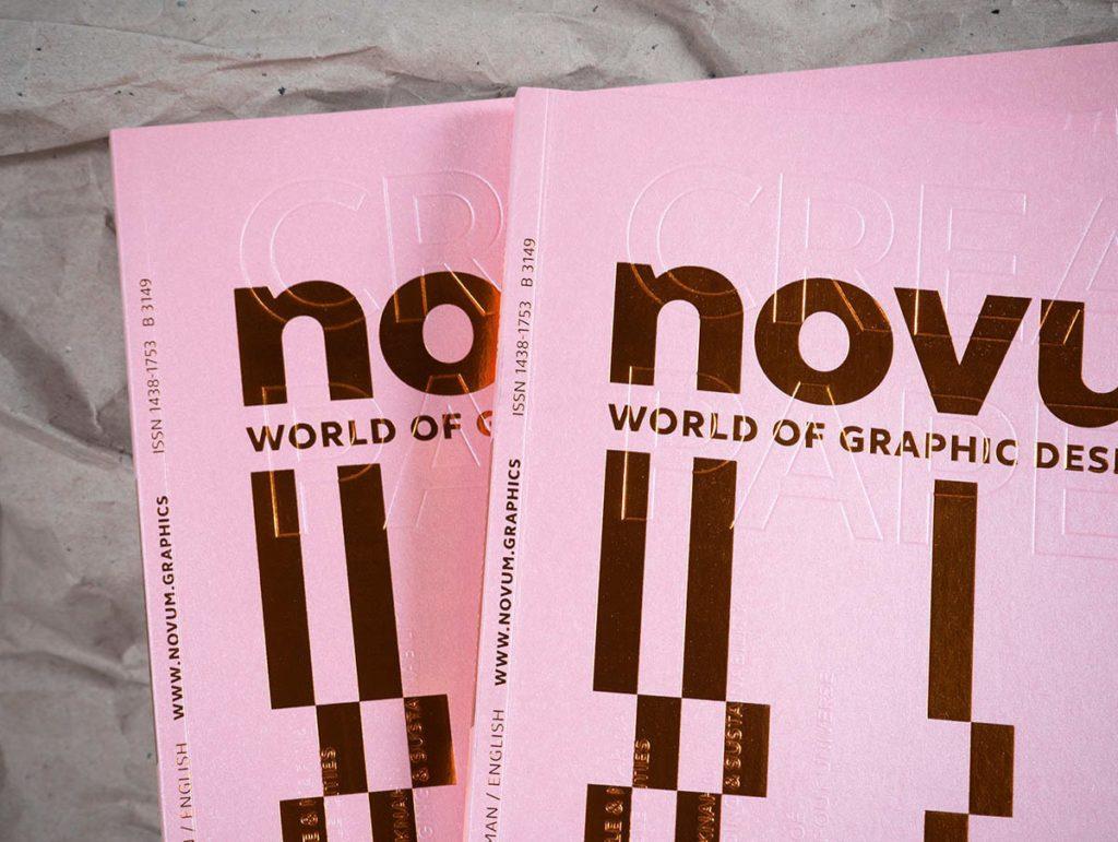 Обложка журнала Novum, разработанная Тобиасом Хольцманом