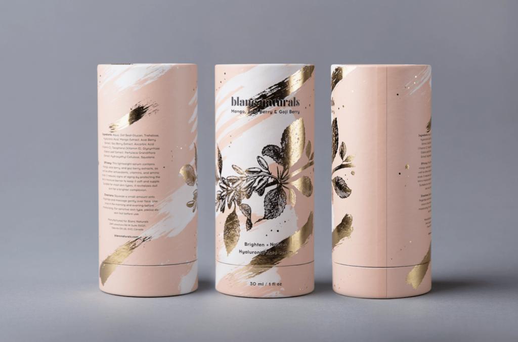 2.Упаковка косметики Blanc Naturals от студии Foxtrot